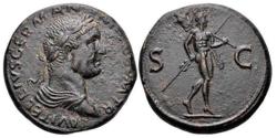 Vitellius AE Sestertius. Római verde, AD 69. 34mm, 26,89g. ...