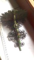 Antik,kis fali gyertyatartó,virágtartó,vas,fém,kézimunka