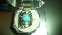 Ezüst gyűrű / türkiz