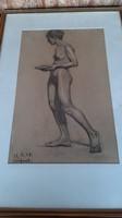 Festmény női akt 1918 ból