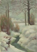 Georgievic jelzéssel : Téli táj 1937