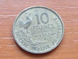 FRANCIA 10 FRANK FRANCS 1951 / B KAKAS #