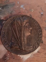 Antik bronz medál