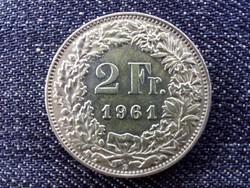 Svájc .835 ezüst 2 Frank 1961 B / id 13917/