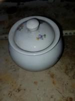 Aranyos porcelán cukortartó, szép állapotban