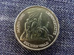 Németország Buchenwaldi koncentrációs tábor réz-nikkel 10 Márka 1972 A / id 14058/