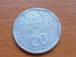 PORTUGÁLIA 20 ESCUDOS 1988 #