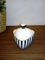 Hohllóházi porcelán cukortartó Koczor Sándor terve
