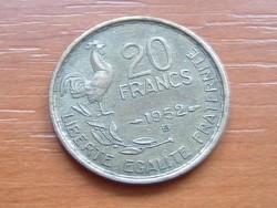 FRANCIA 20 FRANK FRANCS 1952 / B KAKAS #