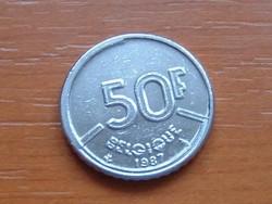 BELGIUM BELGIQUE 50 FRANK 1987 #