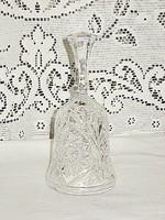 Ingyenes szállítással!!!  Szép  kristály üveg csengő csengettyű eladó  17 cm magas+ 1 vicces AJÁNDÉK