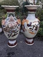 80 cm. Japán Satsuma vázák.
