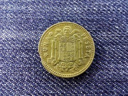 Spanyolország verdehibás kicsípett 1 Peseta 1966 / id 13995/