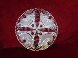 Ólomkristály csodaszép csiszolású tál. átmérője 31 cm. széle le van pattanva