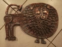 Kopcsányi Ottó oroszlán falidísz