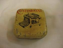 Continental írógépszalag pléh doboz