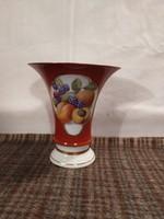Gyümölcsmintás porcelán váza!