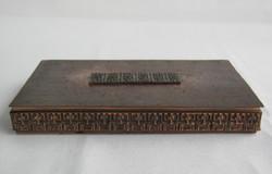 Móga Sándor iparművész bronz vagy réz doboz