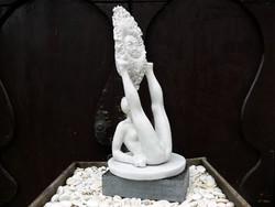 """Kolozsvári Grandpierre Miklós """"Napimádó"""" c. 44 cm magas márványszobor gyűjteményből eladó"""