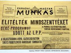 ELÍTÉLTÉK MINDSZENTYÉKET  /  Kanadai Magyar Munkás  /  Szs.:  12474
