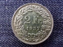 Svájc .835 ezüst 2 Frank 1957 B / id 13910/