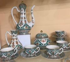 Zsolnay Perzsa kávéskészlet