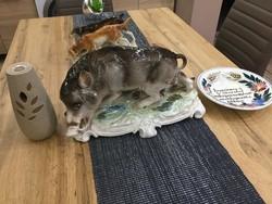 Hatalmas ritka porcelán vaddisznó (wildschwein) /40cm, 3 kg/ - Cluj Napoca