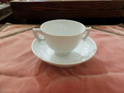 Fehér festetlen herendi kávés csésze, kínai forma