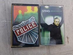 Sting és Police, két kazetta, gyári