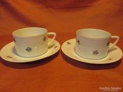 2 db régi csésze szép, apró virágokkal, csészék
