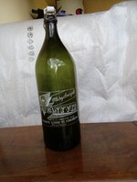 Margitszigeti festett ásványvizes üveg 1,5 l.