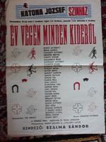 Kecskeméti Katona József színházi plakát (1950-es évek)