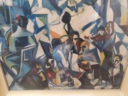 Festmény Schönberger A. Jelzéssel