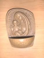 Régi szenteltvíz tartó Mária a kis Jézussal ábrázolás (20/d)