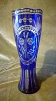 Kristály váza kék