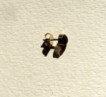 1 Single ezust Onyx koves fulbevalo