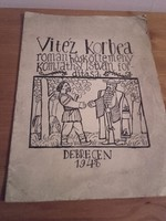 Vitéz Korbea - Román hősköltemény - a fordító Komjáthy István dedikálta Tallós István illusztrálta