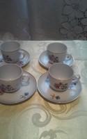 Régi szép kávés csésze 4 darab
