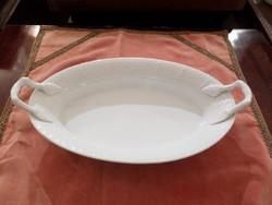 Fehér festetlen herendi kétfülű tál