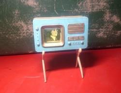 Régi Táncdalfesztiválos erekje müanyag játék vitrin disz 60as évek NAGYON DURVA vintage retro