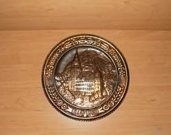 Régi fém falitányér Lillafüred emlék átm. 30 cm (n)