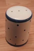 Vintage kék pöttyös asztali sótartó - Osztrák Gmundner