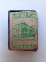 Régi gyufás doboz Szeged Nemzeti Színház