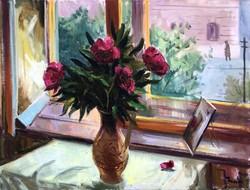 """Tamás Ervin (1922 - 1996 ) """" Pünkösdi rózsa, 1959 ....!!"""