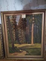 65x83 fa képkeret a benne levő festménnyel