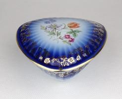 0Z049 Régi német PM porcelán kobaltkék gyűrűtartó