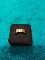 1,-Ft 14 K fehérarany gyűrű 6 db gyémánttal 4,9 gramm!Certifikációval!