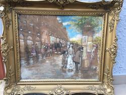 Berkes Antal : Nagyvárosi utcakép 1910