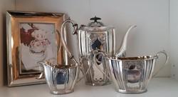 Gyönyörű Angol elegancia, antik ezüstözött teás szett