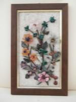 Valódi ásványokból (ametiszt, szerpentin, karneol...)készült falikép